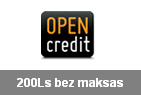 opencredit 200€ bez maksas